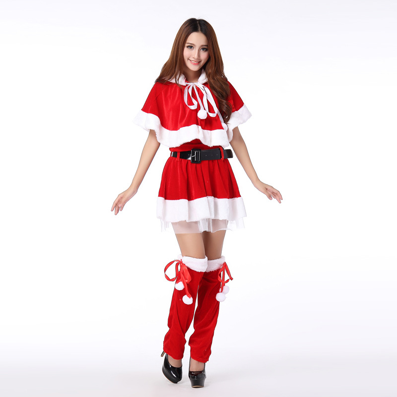 Buy 2017 New Shawl Santa Claus Costumes Role Play Rabbit Girl Party Performing Christmas Clothes Sexy Lingerie Free Shipping 50193