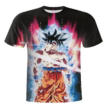 Men Goku Vegeta Clothes Short Sleeve Teen T-Shirt Dragon Ball Z Super Saiyan Ultra Instinctive 3D Print T-Shirt