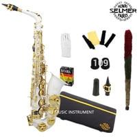 Best Selling French Henri Selmer Paris Alto Saxophone 802 E Flat Electrophoresis Gold Saxe White Color