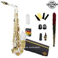 Best Selling French Henri Selmer Paris Alto Saxophone 802 E Flat Electrophoresis Gold Saxe White Color