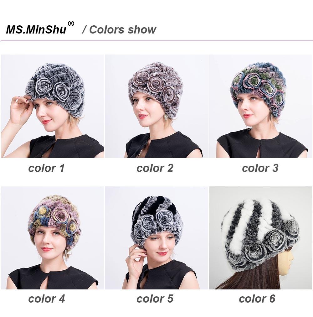 Women hat fur cap colors