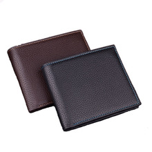 Men Wallets Brand Designer PU Leather Cowhide Short Bifold Wallet Purse Card Holder With Coin Pocket