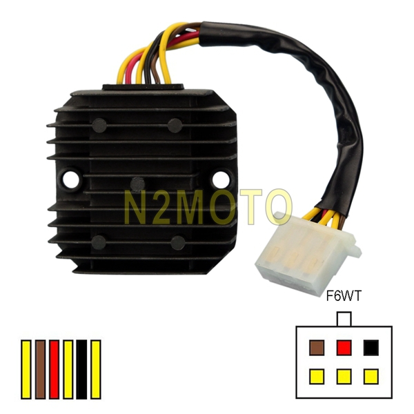 motorcycle parts 6 wires regulator rectifier for el250 gpx250 gpz250r  zr400r* en450/454 ex500 kle500 gt550 kz550 z550ltd* zr550