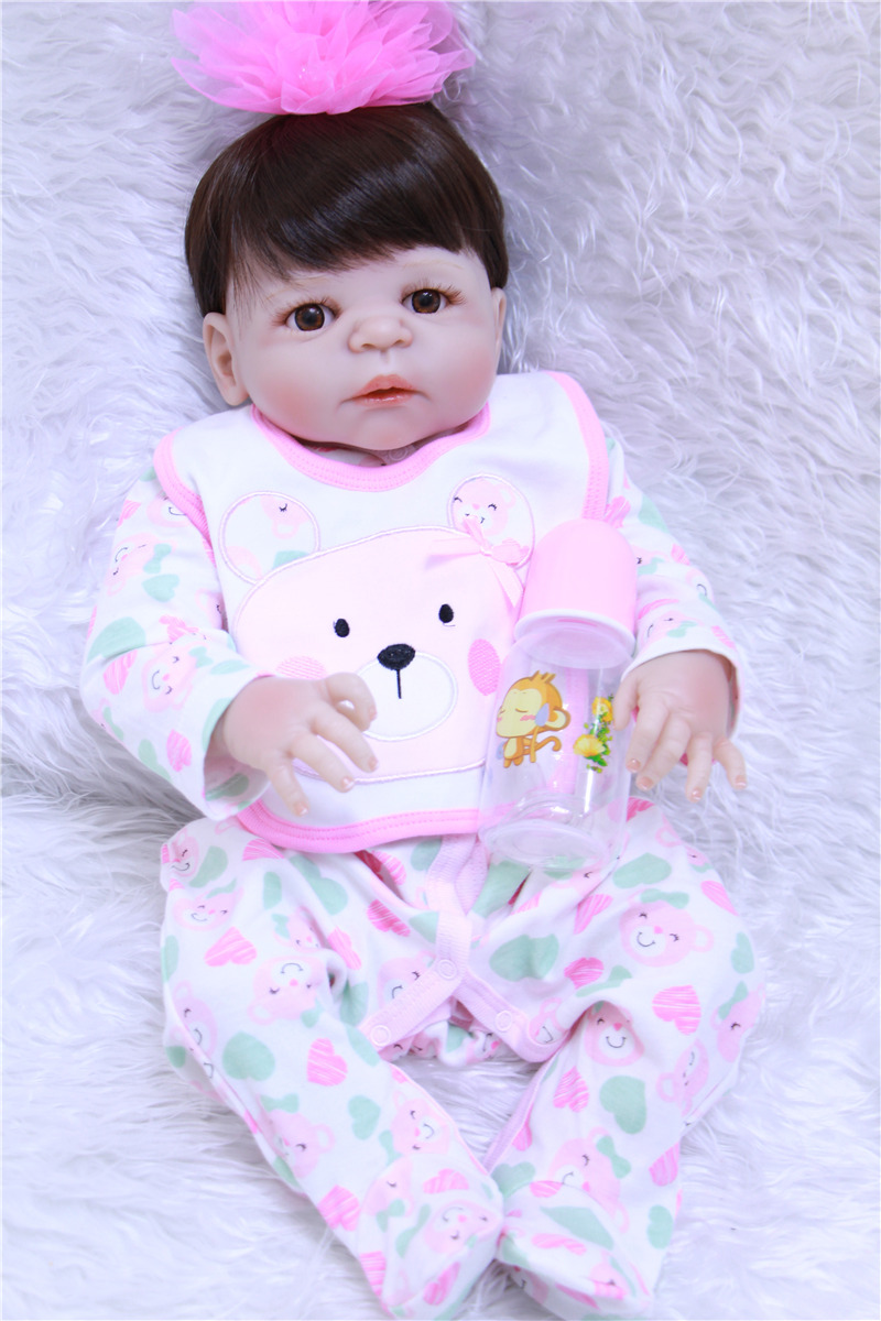 55cm Full Body Silicone Reborn Baby girl Doll Toys Play House Bathe Toy soft dolls for children Gift bebe princess bonecas55cm Full Body Silicone Reborn Baby girl Doll Toys Play House Bathe Toy soft dolls for children Gift bebe princess bonecas