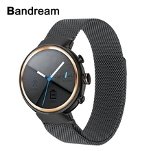 Milanese Watchband for Asus ZenWatch 3 WI503Q Smart Watch Band Magnetic Stainless Steel Strap Quick Release Wrist Bracelet Black