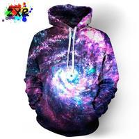 Zuoxiangru Przestrzeń Galaxy Bluzy Mężczyźni/kobiety Odzież Cap Hoody Bluza Z Kapturem Marki 3d Print Paisley Nebula Kurtka