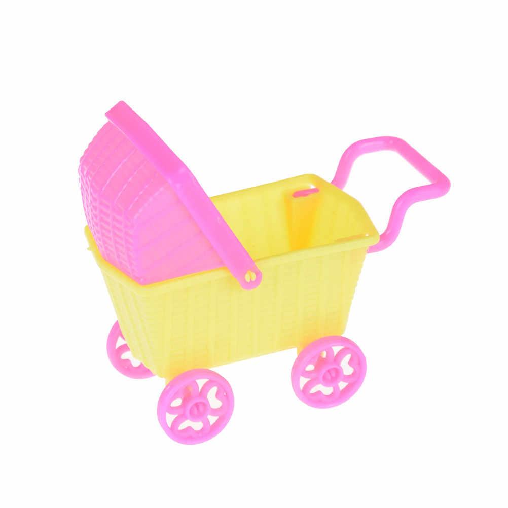TOYZHIJIA Crianças Bebê Menina Escolher Boneca Crianças Brinquedo Casa De Bonecas Mobiliário Acessórios 11*5*8cm carrinho de compras Bonecas Para Kelly Bonecas