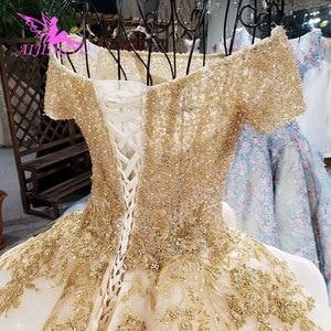 Image 4 - AIJINGYU איטלקי חתונה שמלות מלאך שמלות כלה מקלחת ארוך אירוסין גלימת נצנצים כדור סקסי אביזרי יוקרה תחרה כלה