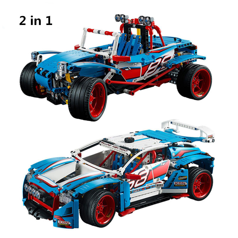 все цены на 1085pcs Diy Genuine Technic Series Blocks The Rally Car Set Compatible With Legoingly 42077 Bricks Toys For Children