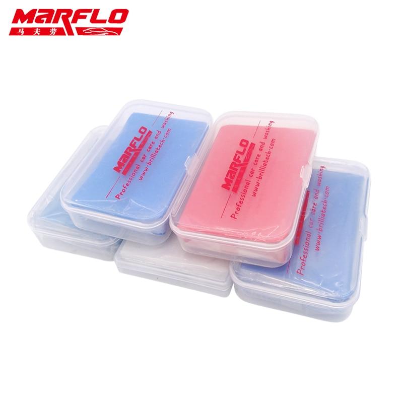 Tar Spot Remover Magic Clay Bar Fine Medium Heavy King Grade 100g With PP Box Car Care Wash Wax Applicator Marflo Brilliatech