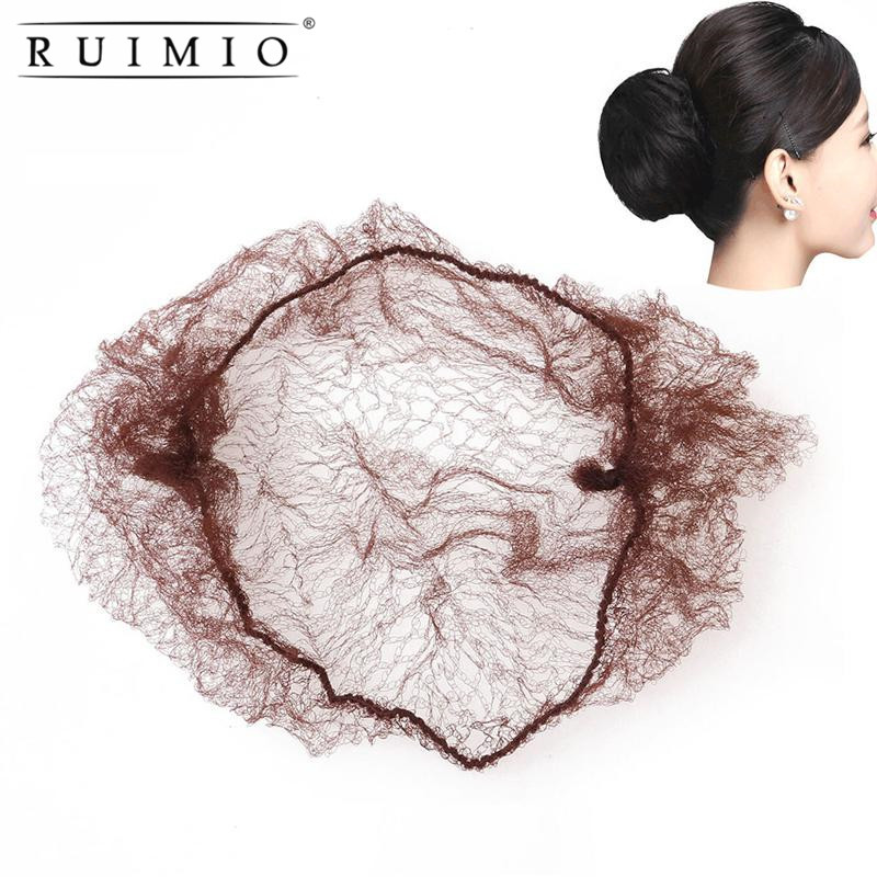 50pcs Hair Nets Wigs Invisible Elastic Edge Mesh Hair Styling Hairnet Soft Lines for Dancing Sporting Hair Net Wigs Weaving