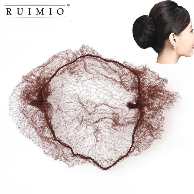 50pcs hair nets wigs invisible elastic edge mesh hair styling hairnet soft lines for dancing sporting