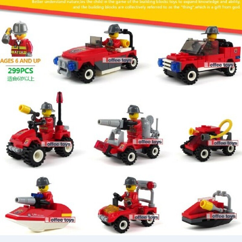 2017 Kids Gift Truck Compatible with Legoed City Police Station Toy Blocks Car Set Mini Policeman Figure Building Bricks