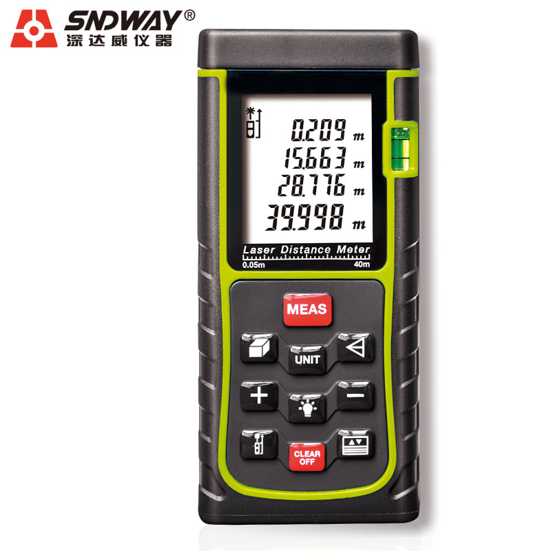 SNDWAY SW-E40 RZ40 131ft Laser Rangefinder 40m Distance Meter Digital Laser Range Finder Tape Area-volume-Angle Tester tool  цены