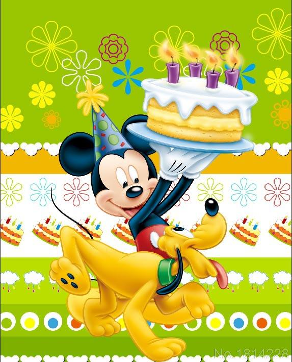 Surprising 3X5Ft Mickey Mouse Pluto Candles Birthday Cake Baby Kids Children Funny Birthday Cards Online Elaedamsfinfo
