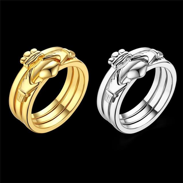 Titanium Stahl Serie Ring Mode Trend Ring Weibliche Modelle Einfache  Goldene Und Weiße Farbe Ringe