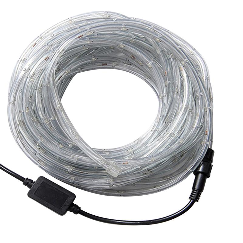10 Meters Waterproof PVC Clear Tube Strip Light Flexible Rope Lamp ...