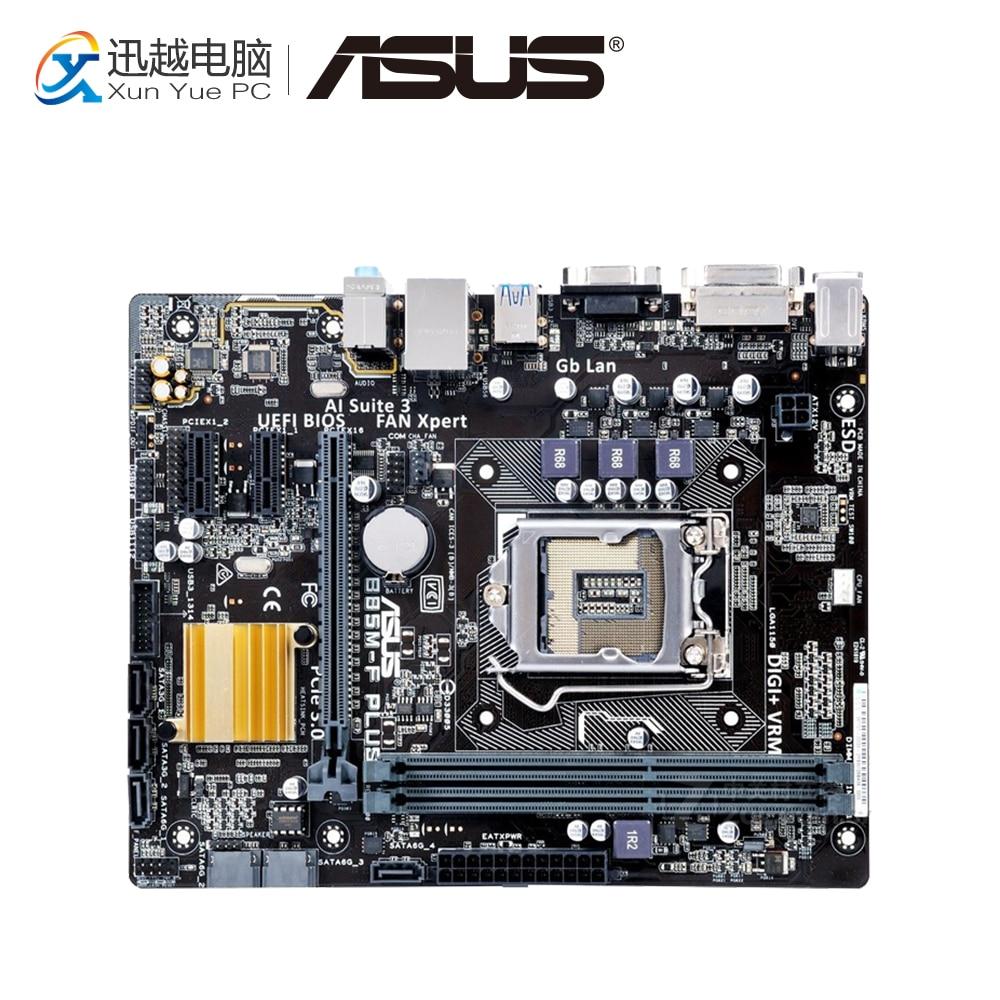 Asus B85M-F PLUS Desktop Motherboard B85 Socket LGA 1150 i7 i5 i3 DDR3 16G SATA3 Micro-ATX asus b85m v5 plus desktop motherboard b85 socket lga 1150 i7 i5 i3 ddr3 16g sata3 micro atx