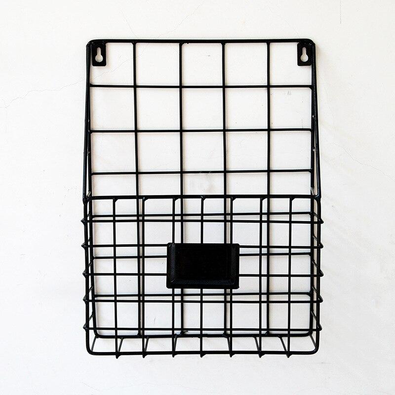 Iron Wire Magazine Rack Newspaper Basket Wall Shelf Holder Organizer Golden