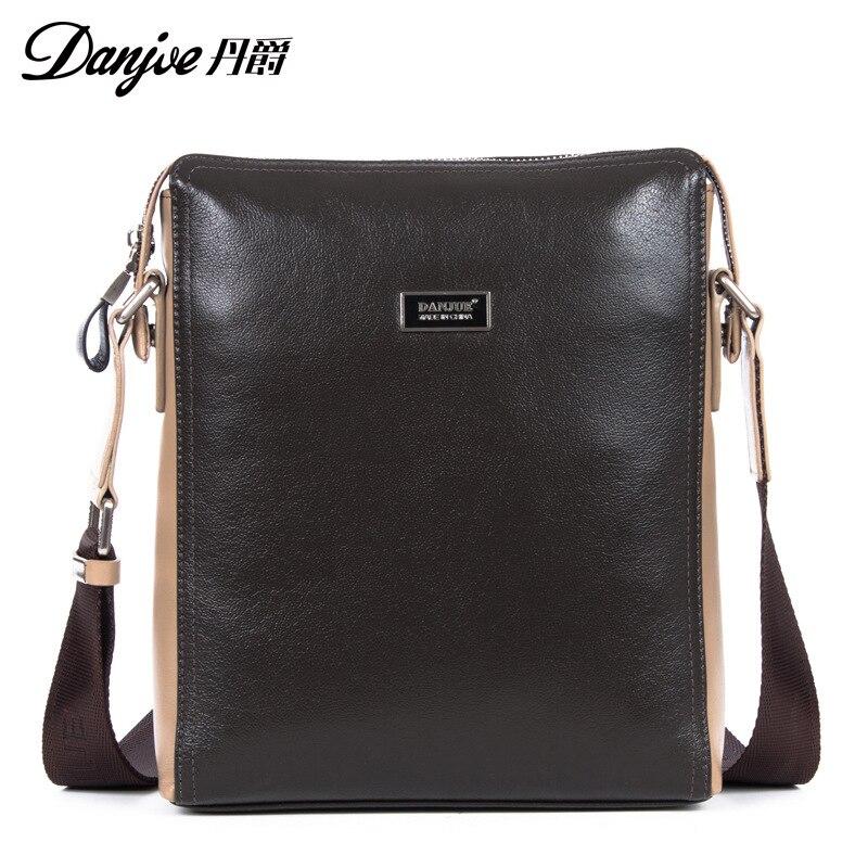 цена на DANJUE High Quality 2018 Leather Genuine Leather Handbag Trendy Computer Laptop Bag Men Briefcase Male Business Bag