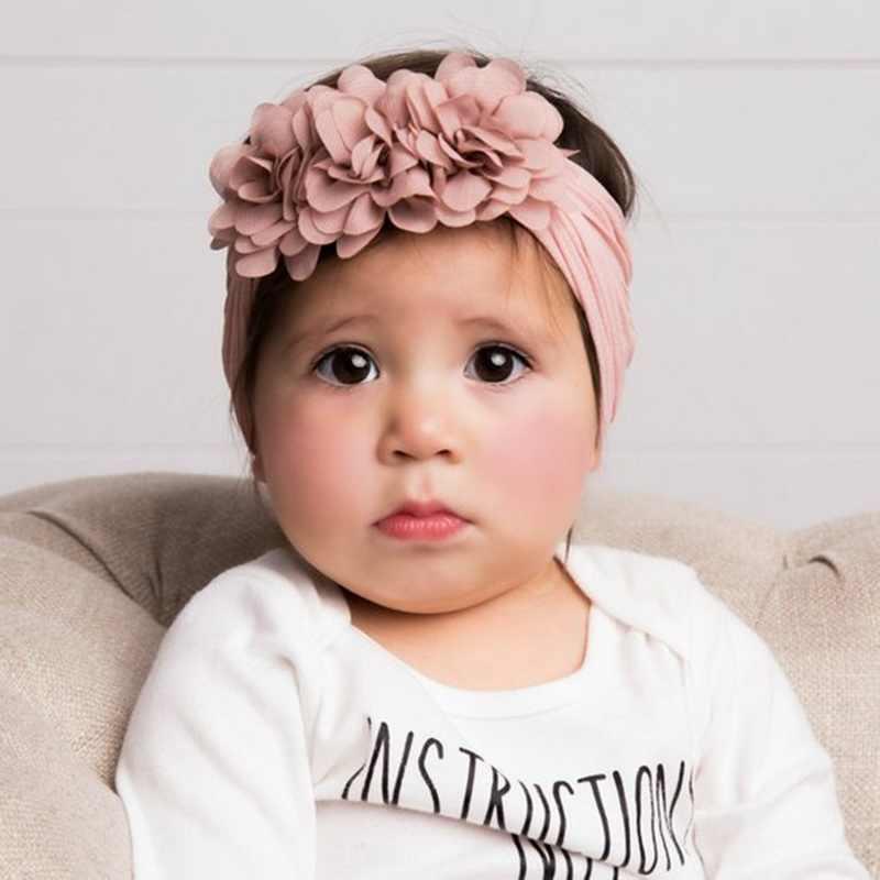 HEFLASHOR Bebek Kız Headbands 3D Çiçek Çocuklar Yürümeye Başlayan Bow Şapkalar Bandı Çiçek Elastik Saç Bantları Başkanı Wrap Bebek saç aksesuarları