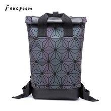 2021 zaini moda zaino geometrico luminoso da donna zaino da scuola per Laptop da uomo di grandi dimensioni zaino olografico da viaggio a spalla