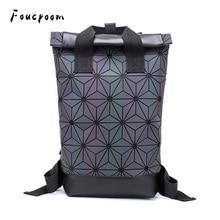 2021 موضة حقائب النساء مضيئة هندسية على ظهره كبيرة الرجال حقيبة ظهر مدرسية للكمبيوتر المحمول الكتف السفر الثلاثية الأبعاد على ظهره
