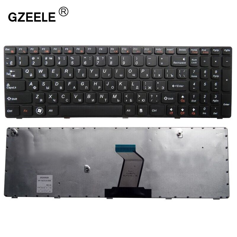 GZEELE RU Laptop Keyboard For LENOVO B590 V570 Z570 Z575 B570A B570G B575 B575A B580 25013347 With Black Frame RU