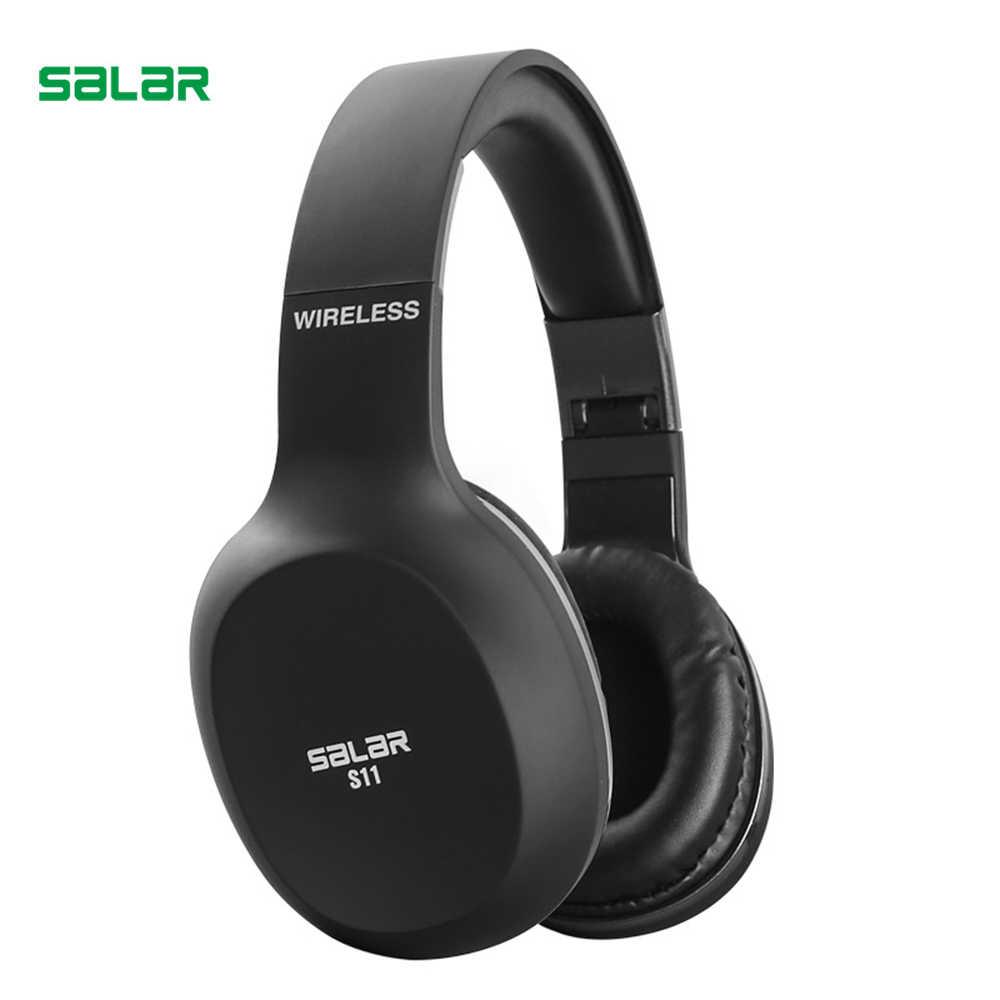 Salar S11 bezprzewodowe słuchawki Bluetooth 4.2 zestaw słuchawkowy składane słuchawki Bluetooth słuchawki do gier z mikrofon do telefonu komputer stancjonarny