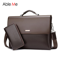 2016 High Quality New Business Mens Leather Briefcase Bag Men Handbag Laptop Shoulder Men Bag