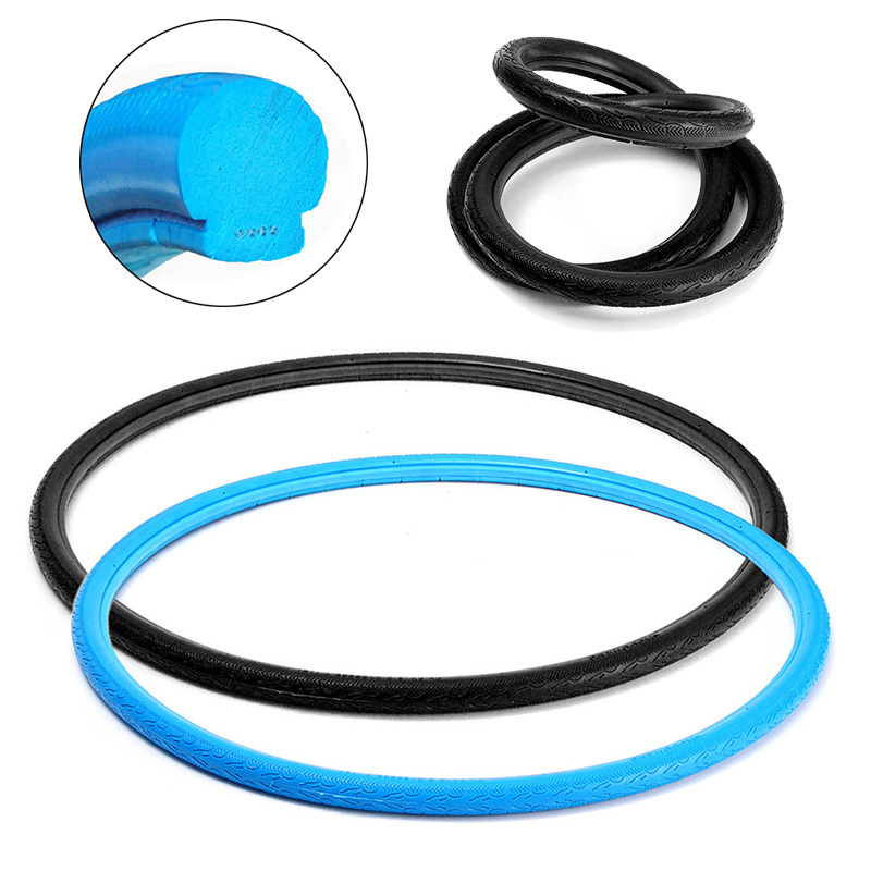 Wheel Bike solid tire Vacuum Polyurethane Replacement <font><b>700</b></font>×<font><b>23C</b></font> Road bicycle Fixed gear Practical image
