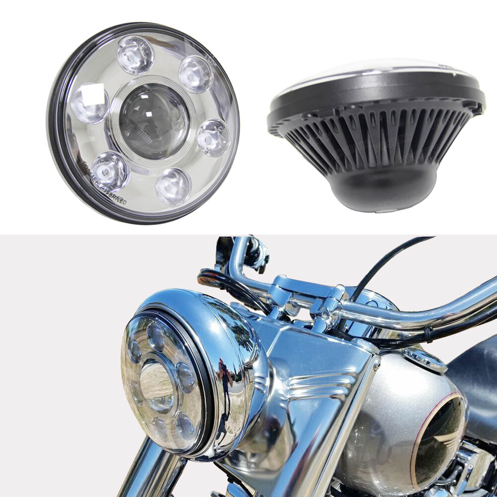 7 LED Headlight-7inch Round LED Daymaker Projector Headlamp 2880lm CREE & Philips chip for Harley Davidson DOT Approved торговля склад 7 7