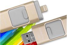 Новые 3 in1 флэш-накопитель USB OTG 64 ГБ интерфейсом USB 32 ГБ накопитель 16 ГБ usb stick 8 ГБ внешних накопителей для iPhone 5/5S/5C/6/6 S Plus PG3