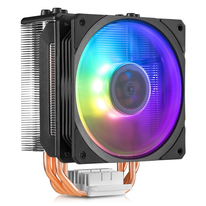 Cooler Master T400 ARGB <font><b>CPU</b></font> Cooler 4 Heatpipes Radiator 120mm RGB Fan For intel 115X 1366 2066 2011 <font><b>AMD</b></font> AM4 <font><b>AM3</b></font> <font><b>CPU</b></font> Cooling image