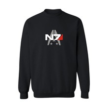 Fashion Mass Effect 3 N7 4xl Streetwear Mens Hoodies and Sweatshirts Hip Hop in RPG Game Harajuku Sweatshirt Black Gray 3xl