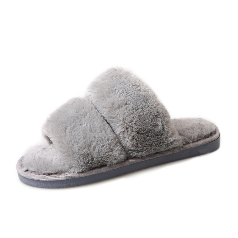 2018 New Arrival Women Fashion  Casual Flat Non-slip Soft Fluffy Faux Fur Flat Slipper Flip Flop Sandal women slippers ladies shoes slip on slider fluffy faux fur flat fashion female leopard slipper flip flop sandal zapatos mujer