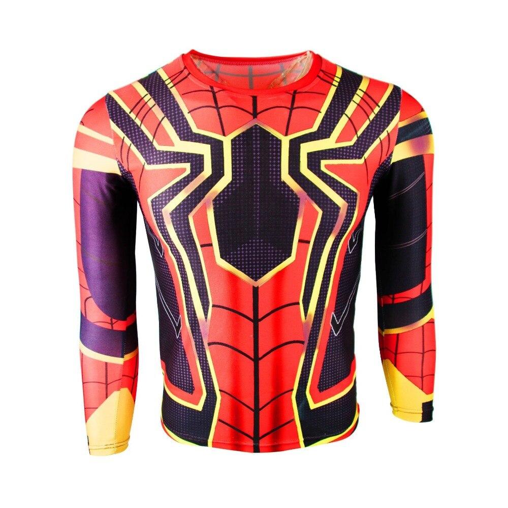 Web of Spider-Man Venom Spider-Man T-shirt Cosplay Anime Costume Spiderman men's movement T-shirt, round collar, sports jerky