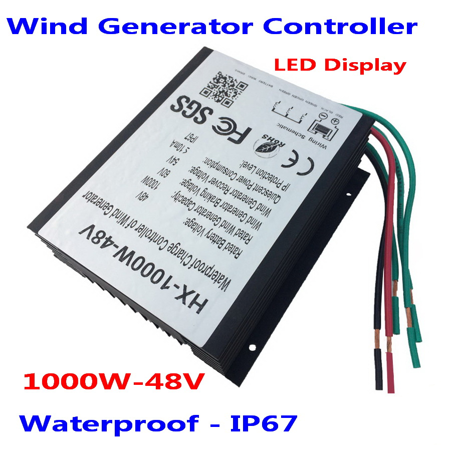 1000W 1.5kw 2000W 24V/48V Wind Generator Charge Controller, 1KW 48V Wind Regulator Charge Controller, Waterproof Grade IP67 48v 1000w wind controller battery charger waterproof ip67 1000w 48v 24v options wind turbines generator