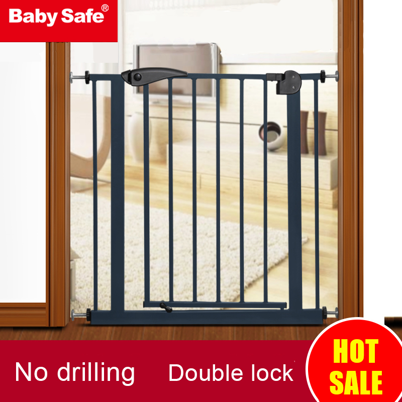 Children and  Pet Dog  Safety Door   Fence with 77 cm height  End Solid Wood