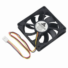 цена на 2pcs/lot DC 12V 3 Wire Pin 80mm x 80mm x 15mm Cooling Cooler PC Computer Case CPU Fan Silent