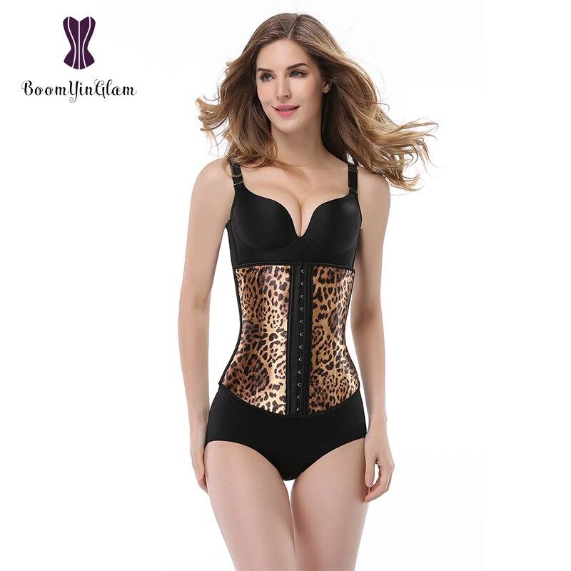 Steel bone 4 Tiger Leopard sexy daily Court girl women Corsets body shaper waist bodysuit training shapewear Breathable 882