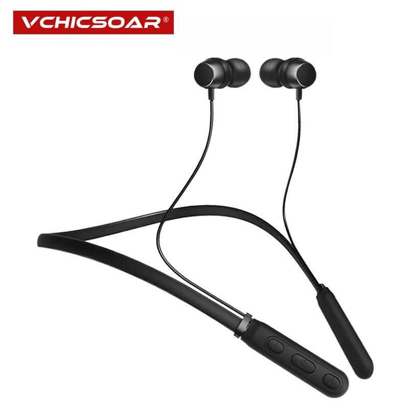 Vchicsoar New Bluetooth Headphones Sports Running Wireless Earphones Stereo Neckband Headset Earbuds with Mic for iPhone Samsung