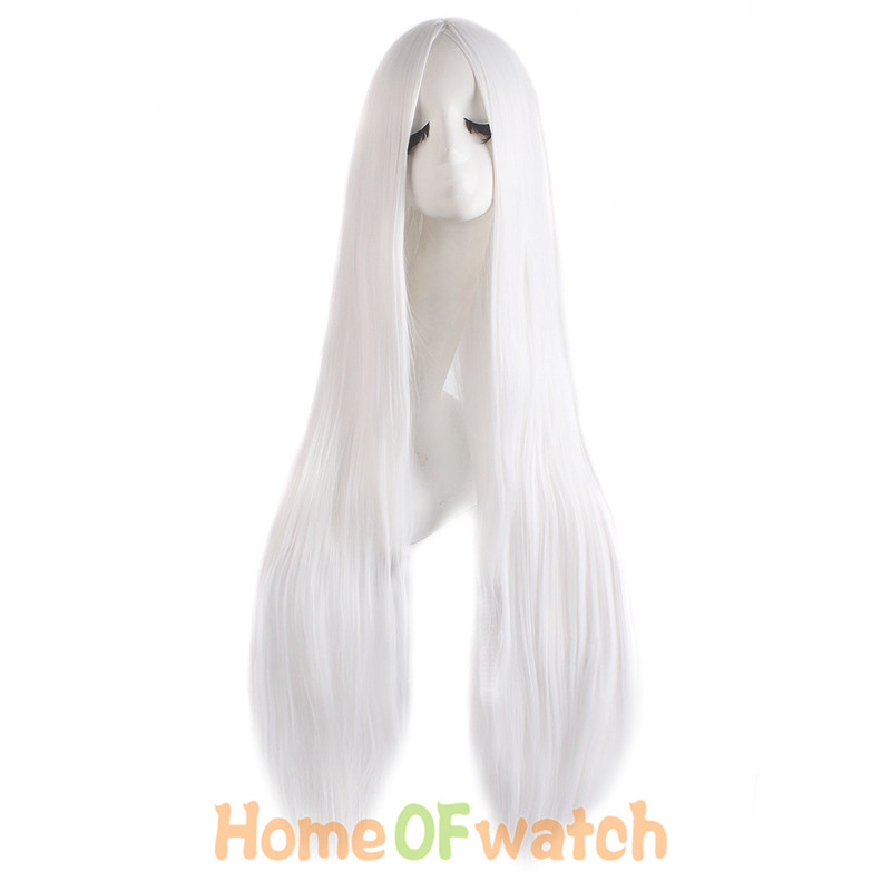 Image 5 - MapofBeauty 100cm Long Straight Hair100cm Cosplay Wig Black White Brown 4 Color Heat Resistant Synthetic Wigs Women Ladies Party-in Synthetic None-Lace  Wigs from Hair Extensions & Wigs