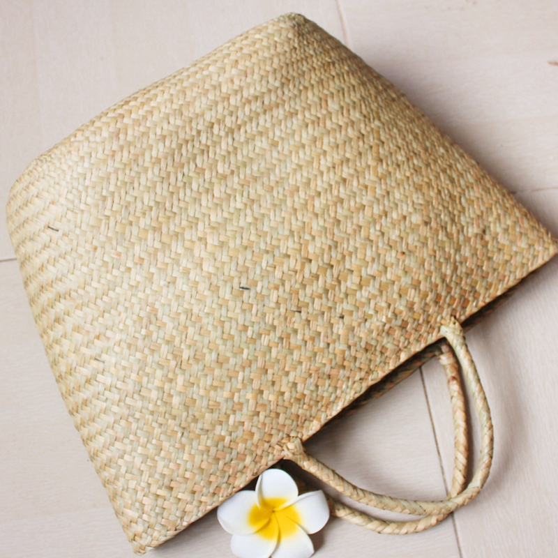 Women'S Classic Straw Summer Beach Sea Shoulder Bag Handbag Tote, Small
