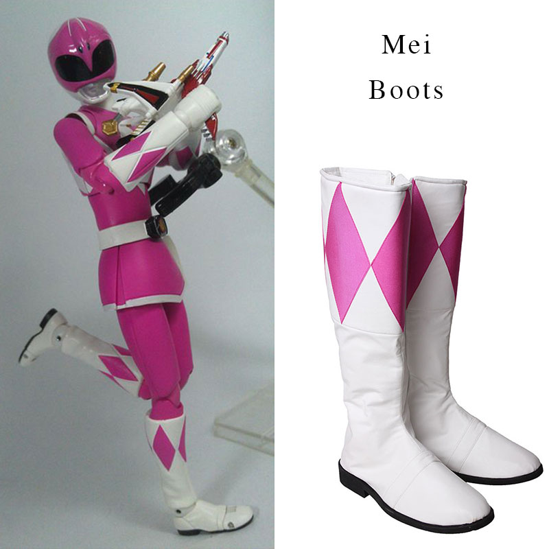 Cosplay Boot Shoes High Boots Cosplay For Zyuranger Ptera Ranger Mei Unisex Halloween Superhero Party Props Accessories Cosplay