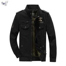 купить 2019 Autumn Soldier MA-1 Style Army Jackets Male Brand Slothing Mens Bomber Jackets Plus Size M-6XL Cotton Military Jacket Men по цене 1847.95 рублей