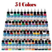 2019 NEW  professional tattoo ink 54 colors 1oz 30ml / bottle paint set fashion makeup cosmetics tool