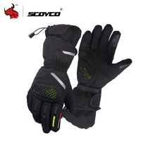 SCOYCO Motorcycle Gloves Cold Proof Waterproof Moto Gloves Motocross Riding Winter Ski Gloves Moto Luvas Da