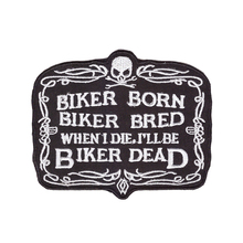 cool biker patch iron on hot cut border use in cloth hat or bag free shipping can be custom embroidery factory china
