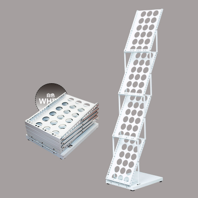 A4 Magazine Brochure Catalogue Literature Poster Page Holder Tray Folding Holder Display Rack In Booth Exhibition Shop Display